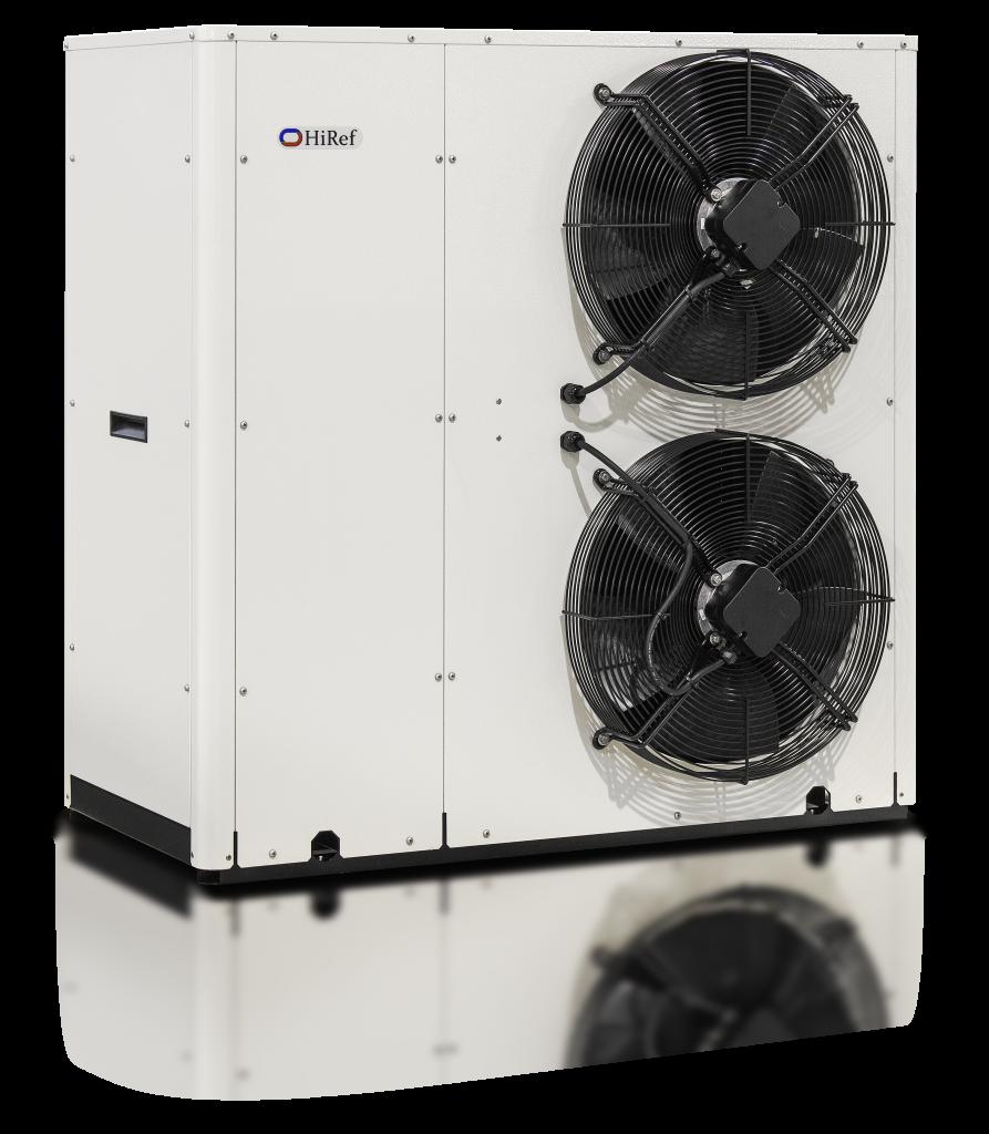 Double fan cooling unit front