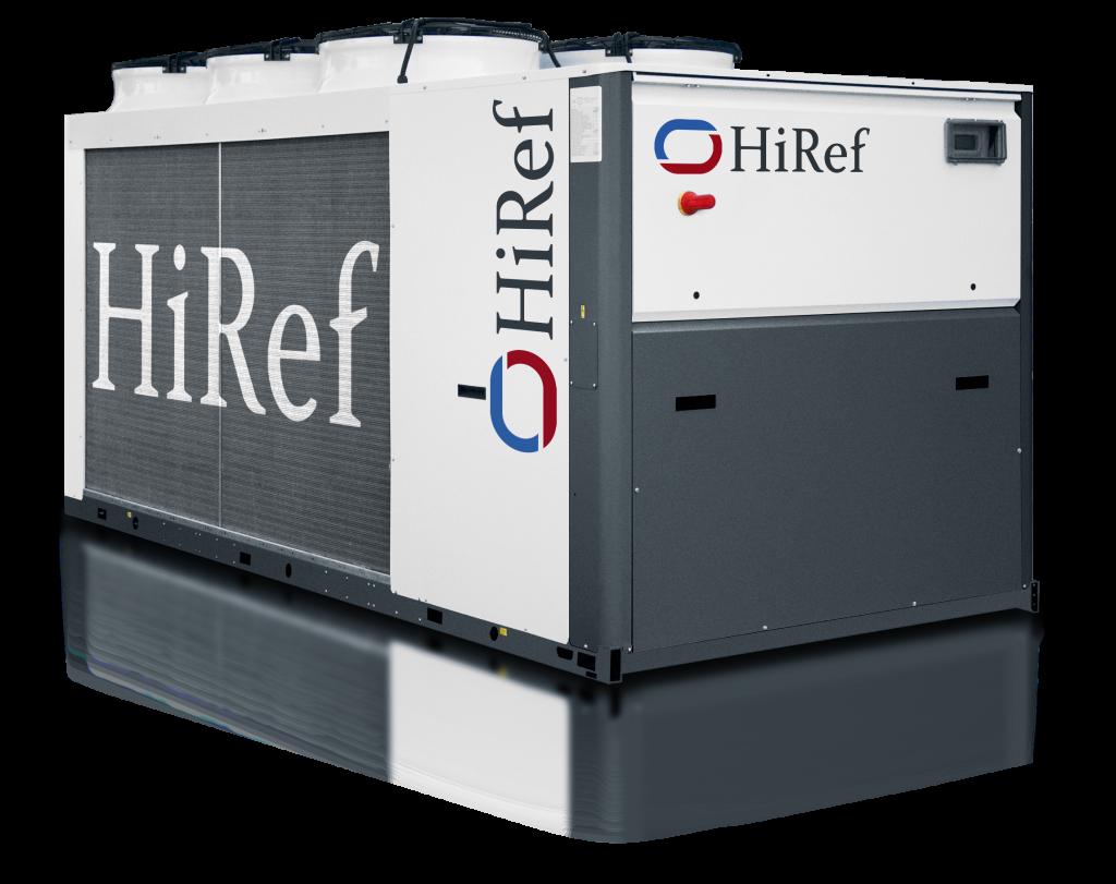 HiRef HPS hot water heat pump front